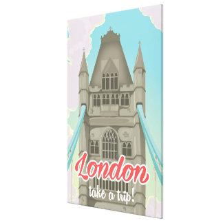 Affiche de voyage de pont de tour de Londres Toiles