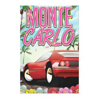Affiche de voyage de supercar de Monte Carlo Toiles