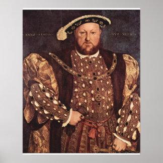 Affiche d'impression de toile du Roi Henry VIII