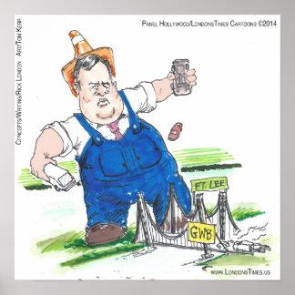 Affiche du Roi Christie Funny Political Cartoon