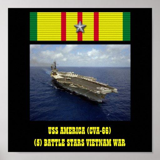 AFFICHE D'USS AMÉRIQUE (CVA-66)