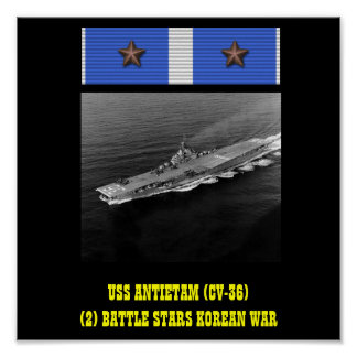 AFFICHE D'USS ANTIETAM (CV-36)