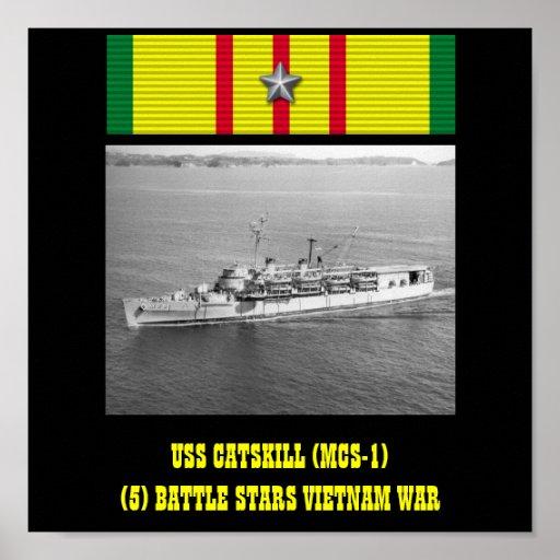 AFFICHE D'USS CATSKILL (MCS-1)