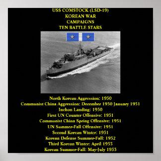 AFFICHE D'USS COMSTOCK (LSD-19)