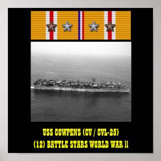 AFFICHE D'USS COWPENS (CV/CVL-25)
