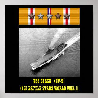 AFFICHE D'USS ESSEX (CV-9)