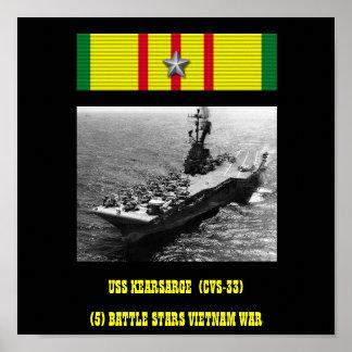 AFFICHE D'USS KEARSARGE (CVS-33   )