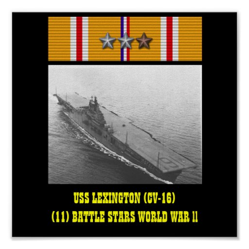AFFICHE D'USS LEXINGTON (CV-16)
