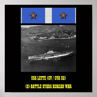 AFFICHE D'USS LEYTE (CV/CVA 32)