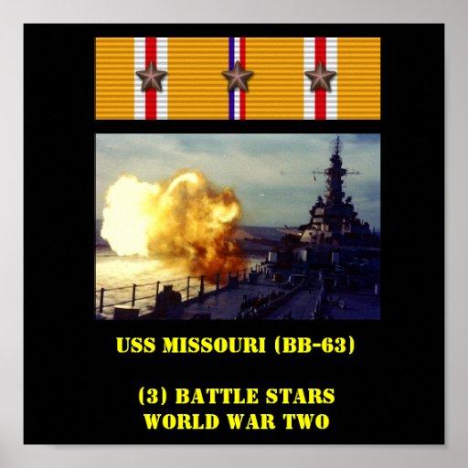 AFFICHE D'USS MISSOURI (BB-63)