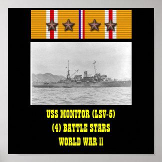 AFFICHE D'USS MONITOR (LSV-5)