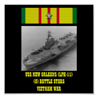AFFICHE D'USS NEW ORLEANS (LPH-11)