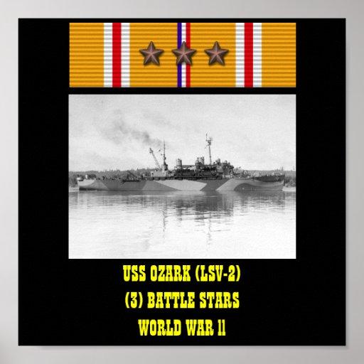 AFFICHE D'USS OZARK (LSV-2)