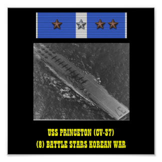 AFFICHE D'USS PRINCETON (CV-37)