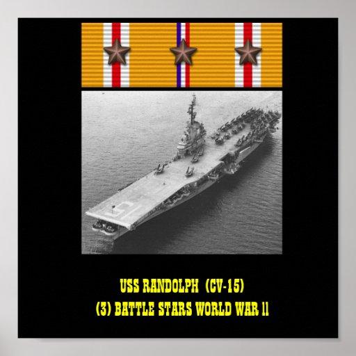 AFFICHE D'USS RANDOLPH (CV-15)