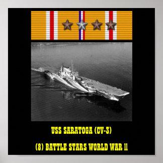 AFFICHE D'USS SARATOGA (CV-3)