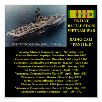 AFFICHE D'USS TICONDEROGA (CVA/CVS-14   )