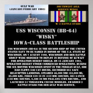 AFFICHE D'USS WISCONSIN (BB-64)