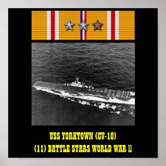 AFFICHE D'USS YORKTOWN (CV-10)