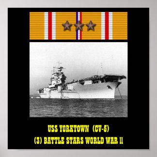 AFFICHE D'USS YORKTOWN (CV-5)