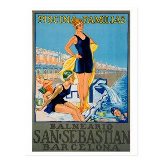 Affiche espagnole de station de vacances