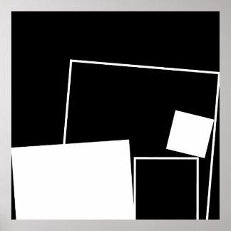 Affiche espiègle de carrés