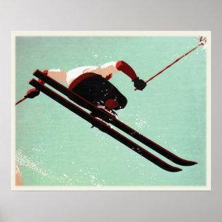 Affiche fraîche de bon à rien de ski