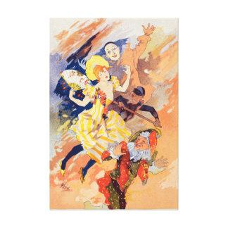Affiche française vintage de reproduction de toile toiles