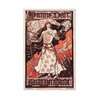 """Affiche française vintage pour le jeu """"Jeanne Toiles"""
