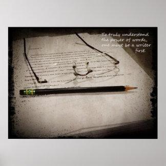 Affiche inspirée d auteur