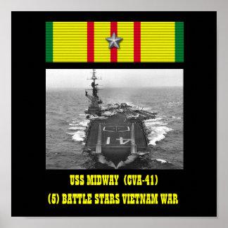 AFFICHE INTERMÉDIAIRE D USS CVA-41