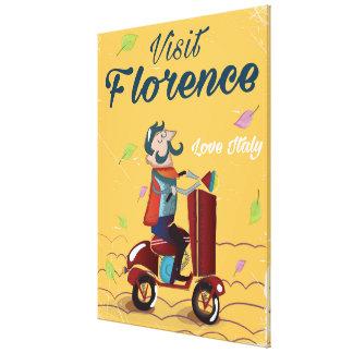 Affiche italienne de voyage de scooter de Florence Toiles