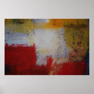 Affiche moderne d'art abstrait - carrés poster