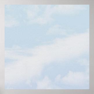 Affiche murale 52x52 personnalisable de nuage