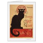 Affiche Noir de promo de chat noir de troupe de ca Cartes De Vœux