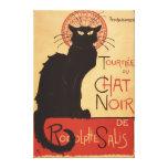 Affiche Noir de promo de chat noir de troupe de ca Toile Tendue Sur Châssis