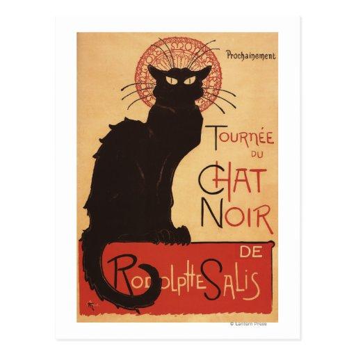 Affiche Noir de promo de chat noir de troupe de Cartes Postales