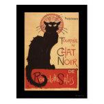 Affiche Noir de promo de chat noir de troupe de Carte Postale