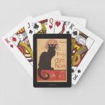 Affiche Noir de promo de chat noir de troupe de Jeux De Cartes Poker