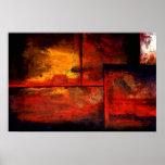 Affiche originale d'impression d'art abstrait
