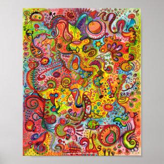 Affiche ou copie abstraite colorée de beaux-arts