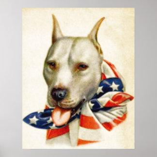 Affiche patriotique américaine vintage de guerre d
