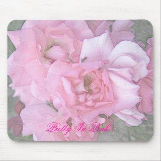 Affiche rose de crayon de couleur de roses, jolie  tapis de souris