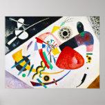 Affiche rouge de tache de Kandinsky