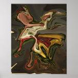 Affiche surréaliste d'art moderne d'abrégé sur dan