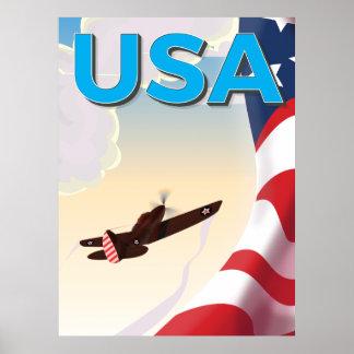 Affiche vintage de la deuxième guerre mondiale des
