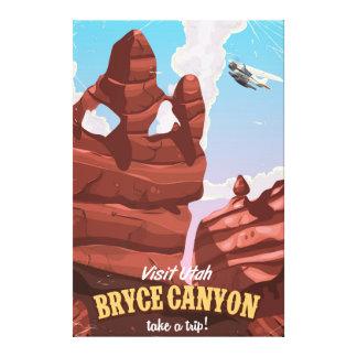 Affiche vintage de voyage de canyon de Bryce Toiles