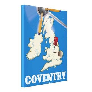 Affiche vintage de voyage de Coventry Toiles