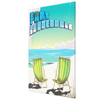 Affiche vintage de voyage de Fort Lauderdale Toiles