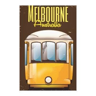 Affiche vintage de voyage de l'Australie de tram Toiles